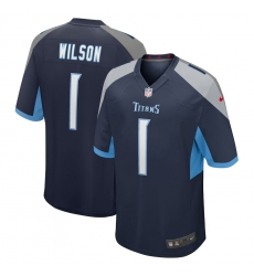 Men's Tennessee Titans #1 Isaiah Wilson Nike Navy 2020 NFL Draft First Round Pick Game Jersey