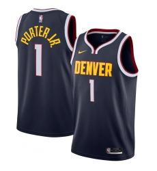 Men's Denver Nuggets #1 Michael Porter Jr. Nike Navy 2020-21 Swingman Jersey