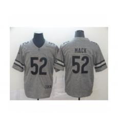 Men's Chicago Bears #52 Khalil Mack Limited Gray Rush Gridiron Football Jersey