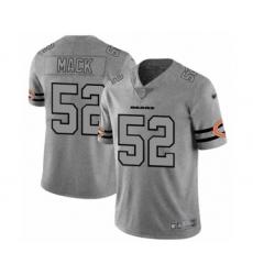 Men's Chicago Bears #52 Khalil Mack Limited Gray Team Logo Gridiron Football Jersey