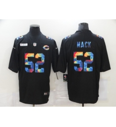 Men's Chicago Bears #52 Khalil Mack Rainbow Version Nike Limited Jersey