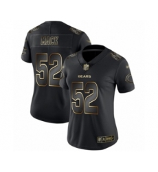 Women's Chicago Bears #52 Khalil Mack Black Gold Vapor Untouchable Limited Football Jersey