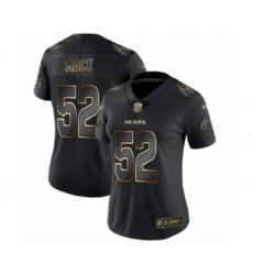 Women's Chicago Bears #52 Khalil Mack Black Gold Vapor Untouchable Limited Football Jersey