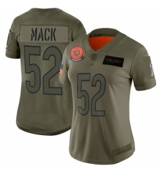 Women's Chicago Bears #52 Khalil Mack Limited Camo 2019 Salute to Service Football Jersey
