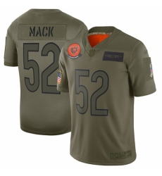 Youth Chicago Bears #52 Khalil Mack Limited Camo 2019 Salute to Service Football Jersey