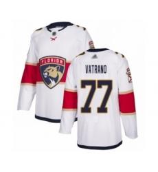 Men's Florida Panthers #77 Frank Vatrano Authentic White Away Hockey Jersey