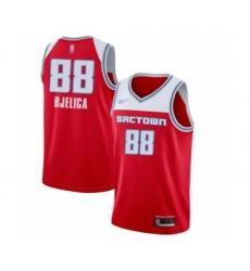 Men's Sacramento Kings #88 Nemanja Bjelica Swingman Red Basketball Jersey - 2019 20 City Edition