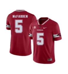 Arkansas Razorbacks 5 Jeremiah McFadden Red College Football Jersey
