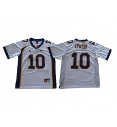 California Golden Bears 10 Marshawn Lynch White College Football Jersey