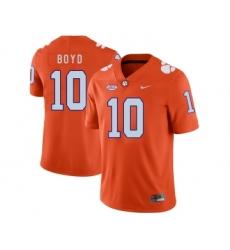 Clemson Tigers 10 Tajh Boyd Orange Nike College Football Jersey