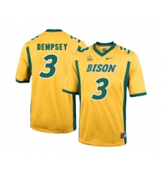 North Dakota State Bison 3 Tre Dempsey Gold College Football Jersey