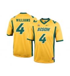 North Dakota State Bison 4 Dimitri Williams Gold College Football Jersey