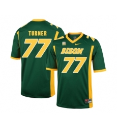 North Dakota State Bison 77 Billy Turner Green College Football Jersey