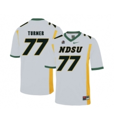 North Dakota State Bison 77 Billy Turner White College Football Jersey