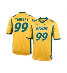North Dakota State Bison 99 Nate Tanguay Gold College Football Jersey