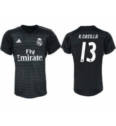 2018-19 Real Madrid 13 K.CASILLA Black Goalkeeper Soccer Jersey
