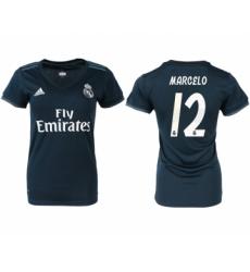 2018-19 Real Madrid 12 MARCELO Away Women Soccer Jersey