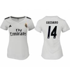 2018-19 Real Madrid 14 CASEMIRO Home Women Soccer Jersey