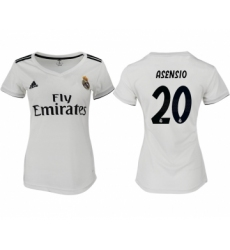 2018-19 Real Madrid 20 ASENSIO Home Women Soccer Jersey