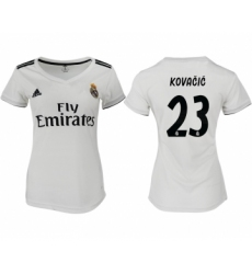 2018-19 Real Madrid 23 KOVACIC Home Women Soccer Jersey