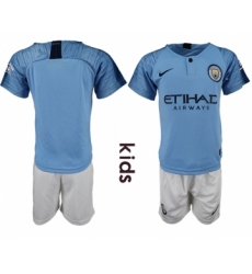 2018-19 Manchester City Home Youth Home Youth Soccer Jersey