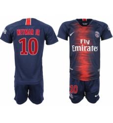 2018-19 Paris Saint-Germain 10 NEYMAR JR Home Youth Soccer Jersey
