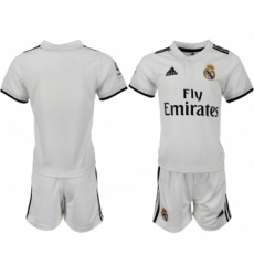 2018-19 Real Madrid Home Youth Soccer Jersey
