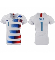 2018-19 USA 1 SOLO Home Women Soccer Jersey