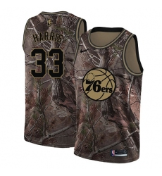 Men's Nike Philadelphia 76ers #33 Tobias Harris Camo NBA Swingman Realtree Collection Jersey