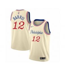 Men's Philadelphia 76ers #12 Tobias Harris Swingman Cream Basketball Jersey - 2019 20 City Edition