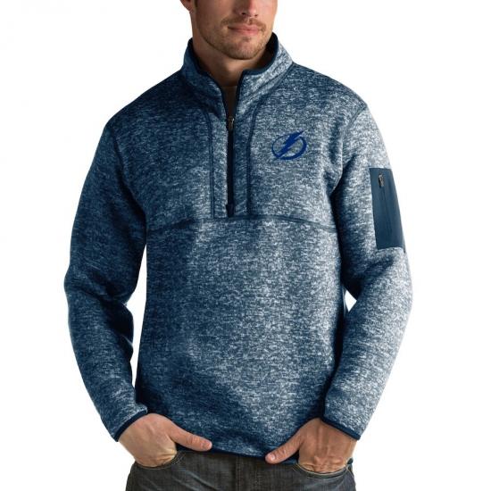 Men's Tampa Bay Lightning Antigua Fortune Quarter-Zip Pullover Jacket Royal
