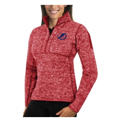 Tampa Bay Lightning Antigua Women's Fortune Zip Pullover Sweater Red