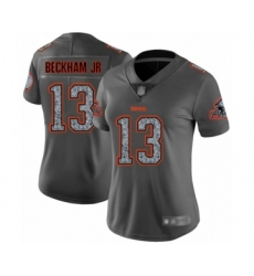 Women's Cleveland Browns #13 Odell Beckham Jr. Limited Gray Static Fashion Football Jersey