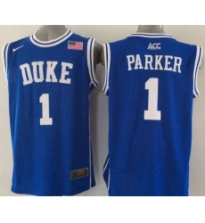 Blue Devils #1 Jabari Parker Blue Basketball New Stitched NCAA Jersey