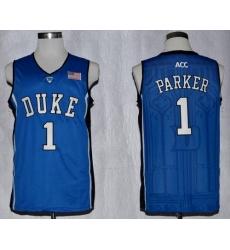Blue Devils #1 Jabari Parker Blue Basketball Stitched NCAA Jersey