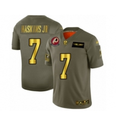 Men's Washington Redskins #7 Dwayne Haskins Olive Gold 2019 Salute to Service Limited Player Football Jersey