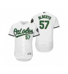 Men's Orioles #57 Hanser Alberto White Turn Back the Clock Earth Day Throwback Jersey
