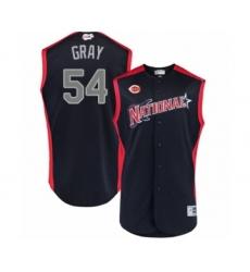 Men's Cincinnati Reds #54 Sonny Gray Authentic Navy Blue National League 2019 Baseball All-Star Jersey