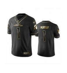 Men's Arizona Cardinals #1 Kyler Murray Limited Black Golden Edition Football Jersey