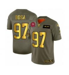 Men's San Francisco 49ers #97 Nick Bosa Limited Olive Gold 2019 Salute to Service Football Jersey