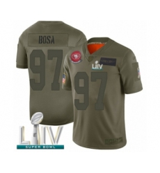 Youth San Francisco 49ers #97 Nick Bosa Limited Olive 2019 Salute to Service Super Bowl LIV Bound Football Jersey