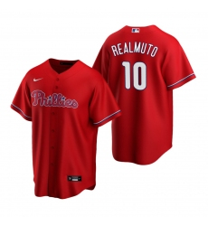 Men's Nike Philadelphia Phillies #10 J.T. Realmuto White Cooperstown Collection Home Stitched Baseball Jersey