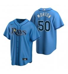 Men's Nike Tampa Bay Rays #50 Charlie Morton Light Blue Alternate Stitched Baseball Jersey