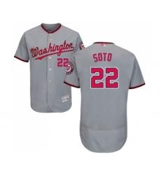 Men's Washington Nationals #22 Juan Soto Grey Road Flex Base Authentic Collection Baseball Jersey