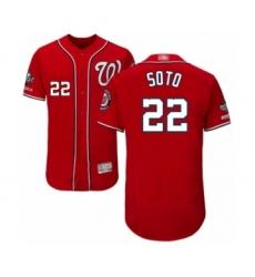 Men's Washington Nationals #22 Juan Soto Red Alternate Flex Base Authentic Collection 2019 World Series Champions Baseball Jersey