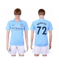 Manchester City #72 Iheanacho Home Soccer Club Jersey
