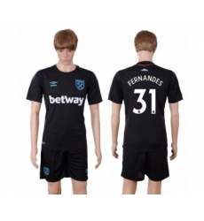 West Ham United #31 Fernandes Away Soccer Club Jersey