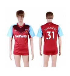 West Ham United #31 Fernandes Home Soccer Club Jersey