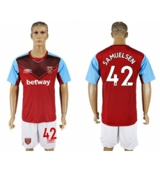 West Ham United #42 Samuelsen Home Soccer Club Jersey