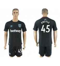 West Ham United #45 Knoyle Away Soccer Club Jersey